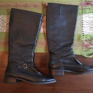 Brown Leather Upper Boot